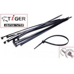 Стяжки Tiger 200мм (100шт) 3,5 мм черные