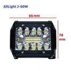 Светодиодная фара дальнего света AllLight J-60W 20 chip EPISTAR 9-30V