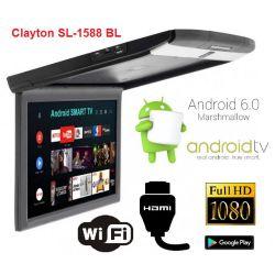 Монитор потолочный Clayton SL-1588 BL Android (черный)