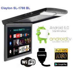 Монитор потолочный Clayton SL-1788 BL (черный) Android