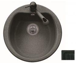 Кухонная мойка Plados ATLANTIC 51.10 UG 95 Ebony Black - Эбонитовый черный