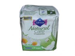 Прокладки гігієнічні 9 шт/5 кр. (Natural Care Ultra Super) ТМ LIBRESSE