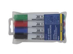 Комплект маркерів для магн. дошок (4шт) арт. BM.880094 ТМ BUROMAX