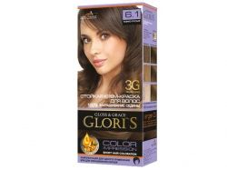 Фарба для волосся GLORIS 6.1 (Темнорусий) ТМ GLORIS
