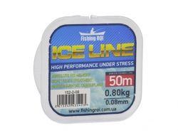 Ліска зимова Fishing ROI ICE LINE d=0.09mm 0.9kg 50m ТМ FISHING ROI