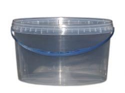 Відро пл. 6л (овал) з гермет. кришкою та пл. ручкой прозоре ТМ СВІТПАК