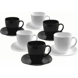 Набор чайный Luminarc Carine Black/White 220мл d2371 - Картинка 1