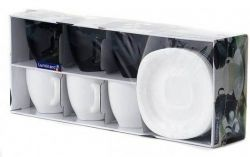 Набор чайный Luminarc Carine Black/White 220мл d2371 - Картинка 2