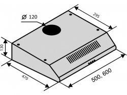 Вытяжка VENTOLUX ALDO 60 BK - Картинка 5