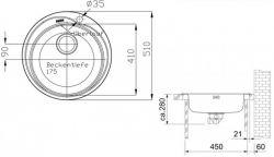 Кухонная мойка Franke ROL 610-41 (101.0255.788) - Картинка 3