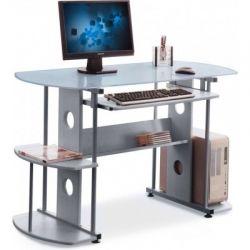 Компьютерный стол AMF GF-101 Синее стекло/Серый
