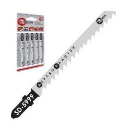 Полотно пильное для лобзика рабочая длина 75 мм, расстояние между зубьями 4,0 мм для работы по дереву INTERTOOL SD-5999