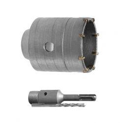 Комплект: сверло корончатое по бетону 55 мм+Переходник SDS Plus 100мм INTERTOOL SD-7055