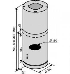 Вытяжка VENTOLUX ISOLA CILINDRO (1200) - Картинка 2