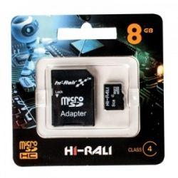 Hi-Rali microSDHC 8Gb Class4 SD адаптер