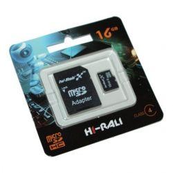 Hi-Rali microSDHC 16Gb Class4 Hi-Rali SD адаптер (HI-16GBSDCL4-01)