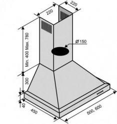 Вытяжка VENTOLUX LAZIO 60 wh (750) - Картинка 2