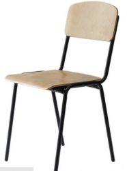 Офисный стул AMF Ученический №6 черный лак береза