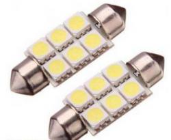 Габаритные огни Iskra LED/LL 120306S-W/39 Т11 39мм белые (2 шт.)
