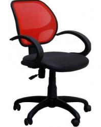 Офисный стул AMF Байт/АМФ-5 сиденье Сетка черная/спинка Сетка красная