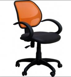 Офисный стул AMF Байт/АМФ-5 сиденье Сетка черная/спинка Сетка оранжевая