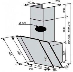 Вытяжка VENTOLUX TORINO 60 WH (750) PB - Картинка 5